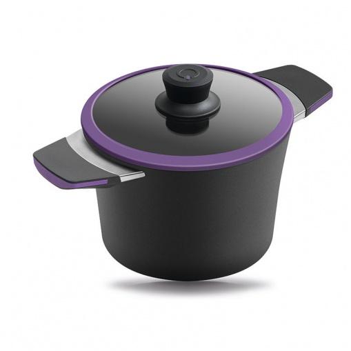 Кастрюля 24 см 4 л Squality фиолетовая